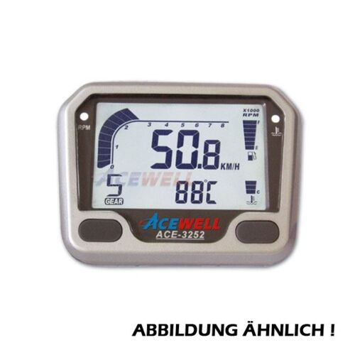 242594 ACE-3250S 3252S Multifunktionelles Motorrad Digitalinstrument schwarz,