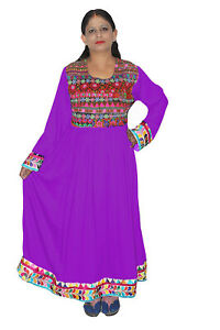 Details about Indian Women Banjara Dress Embroidered Purple Color Wedding  Wear Tunic Plus size