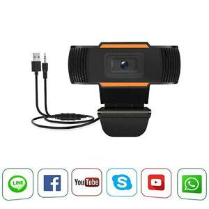 WEBCAM USB CAMERA PC CON MICROFONO PER VIDEOCHAT LEZIONE SMART WORKING CON CLIP