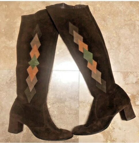 Vintage 60s Gogo Boots 70s Boots 60s Boots Brown V
