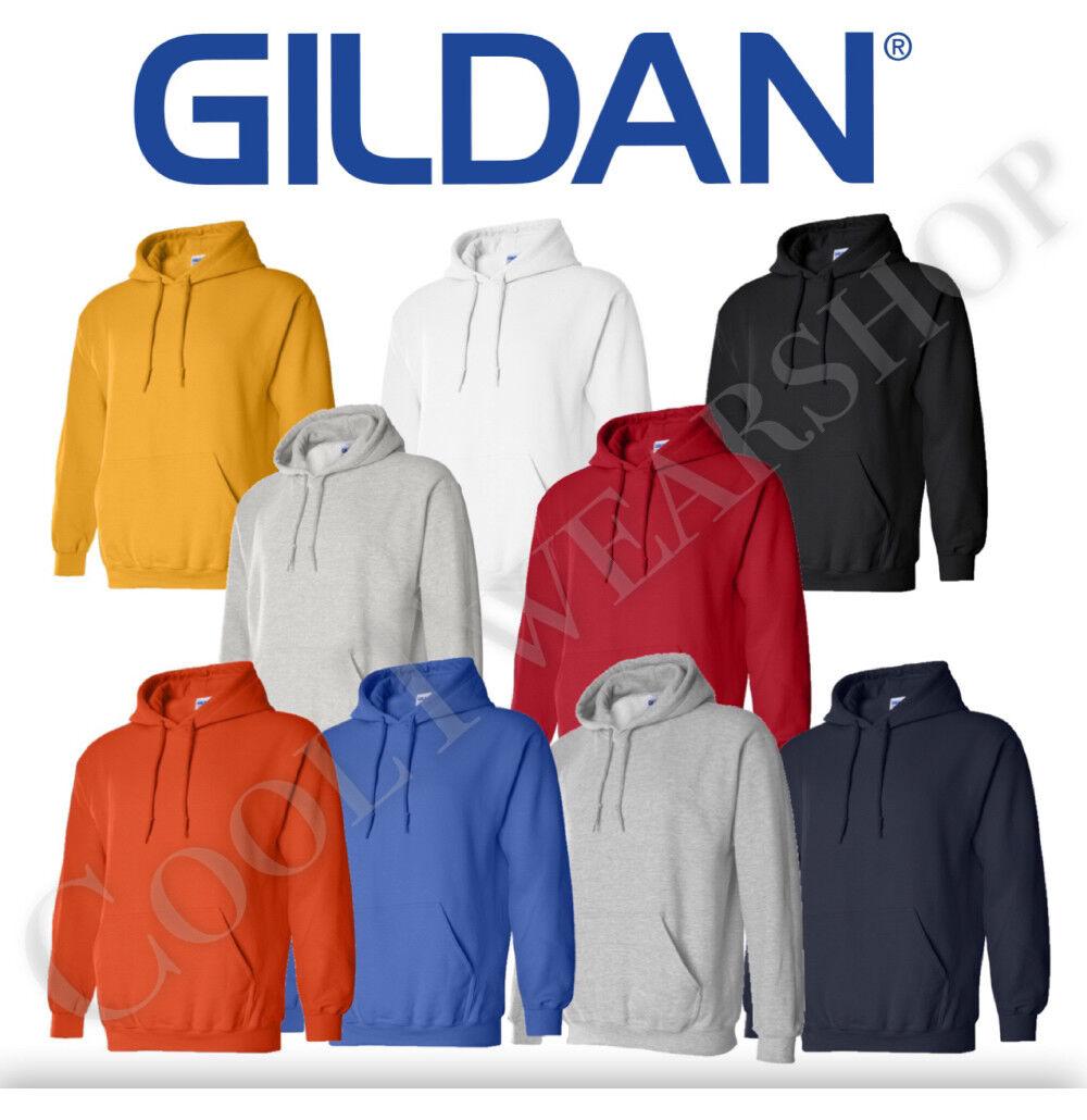 Gildan Plain Mens Kids Blank Fleece Full Zip Hooded Heavy Blend Hooded Zipper