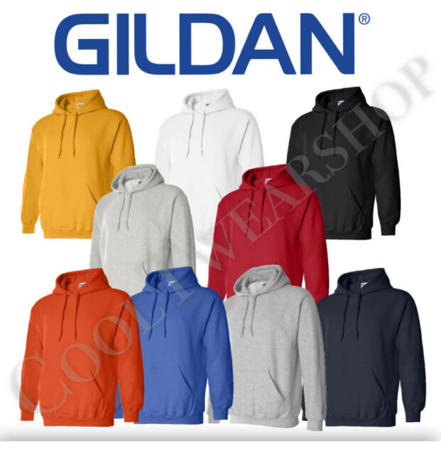 Gents Gildan Heavy Blend Full Zipped Hoodie Hooded Sweatshirt Jumper