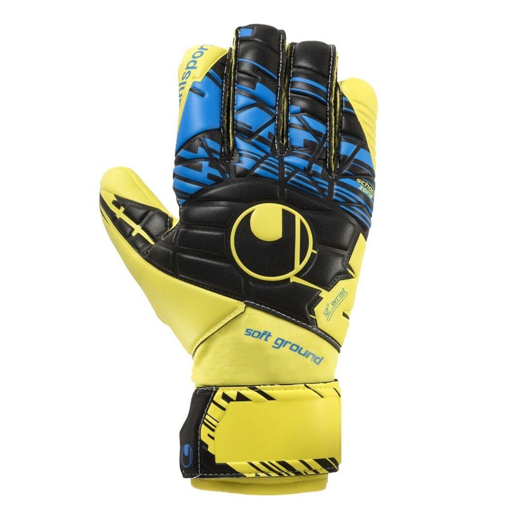 Uhlsport SPEED UP NOW SOFT HN COMP Torwarthandschuhe yellow black blue 101102801