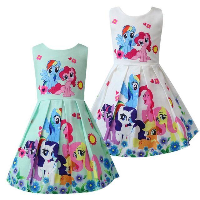 Children Girls Kids Toddler My Little Pony Princess Dress Tulle Skirt 1602