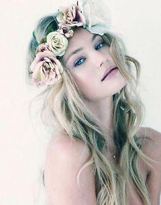 Image is loading New-Headbands-Crazy-Summer-Beauty-Flower-Ladies-HairBand- 94baf98e763