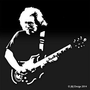 Jerry Garcia Grateful Dead Head White Decal Window