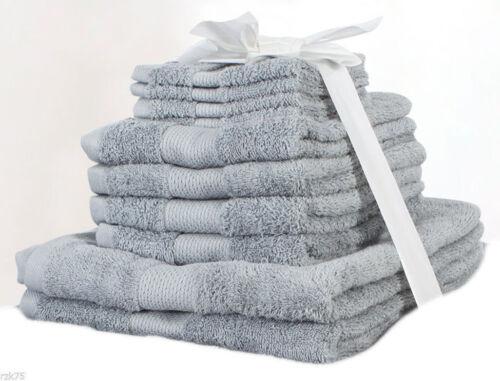 550 Gsm 100/% Pure Coton Égyptien Serviettes Olivia Rocco 10 pc Serviette Bale Set
