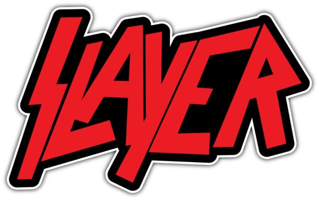 Slayer band metal music red car bumper window sticker decal