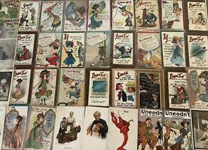Estate-Lot-of-51-old-Early-1900s-Comic-Funny-Postcards-Artist-Signed-Vintage-b40