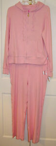 With Pj Lounge Pink Size Tags Pajamas Ladies Large Couture New Set qqA6zU