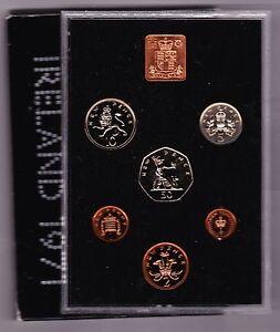 CASED 1971 ROYAL MINT STANDARD PROOF SET OF 6 COINS