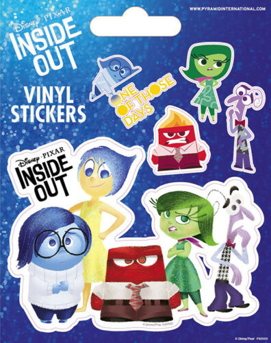 Inside Out Set Of 5 Vinyl Stickers Decals Official Licensed Merchandise