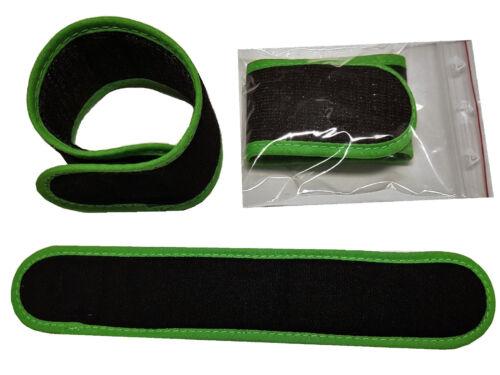 4 x RutenKlettband 25 cm x 4 cm weiches Material Premium Angeln SCHWARZ GRÜN