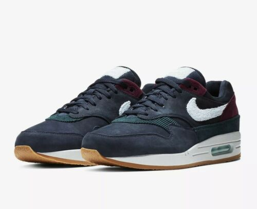 Nike Air Max 1 'Crepe Sole' Obsidian Cobalt Tint Uk Size 9 CD7861-400