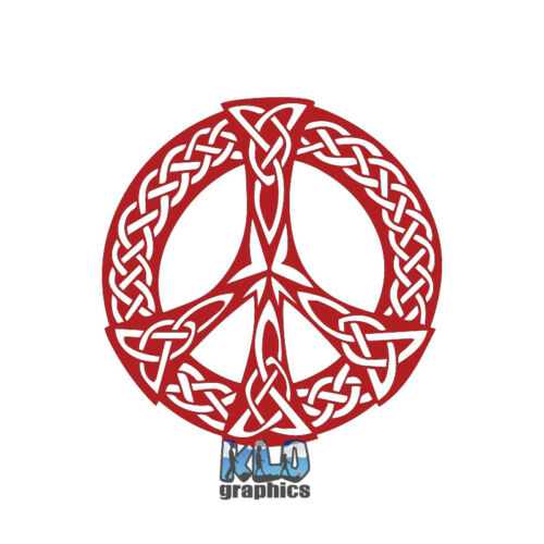 PEACE SIGN CELTIC KNOT vinyl Sticker 70/'s Hippie for Beetle Bug SEVENTIES
