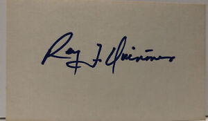 Rey F. Quinones Autographed Signed Index Card Seattle Mariners