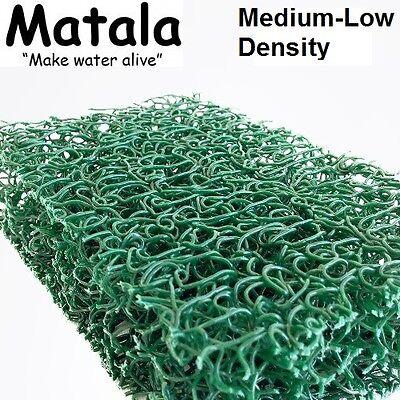 """Green Matala 3-Pack Pond Filter Mat 12/""""x12/""""Medium-Low Density Filter Media"""