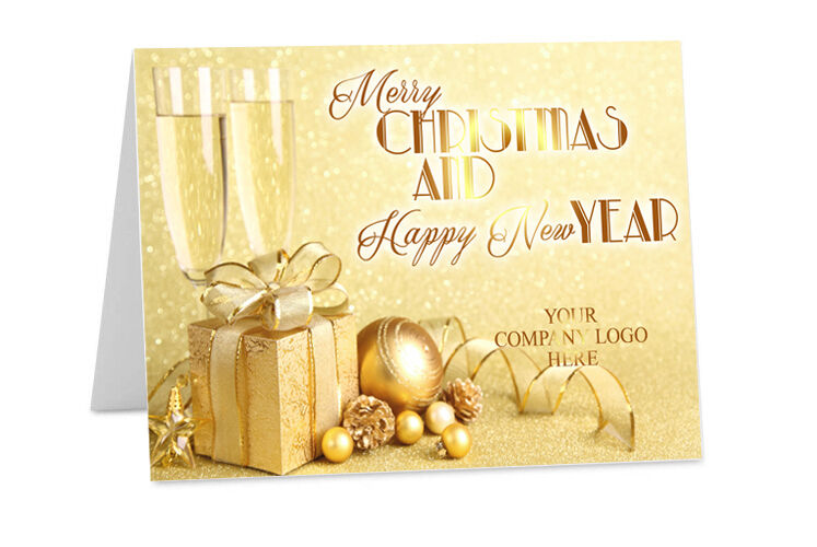 Personalised CHRISTMAS New Year Corporate Company Logo Family Greeting Cards ch5
