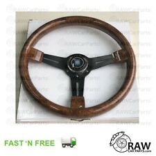 14 Wood Steering Wheel Universal 380mm 15 Inch Grant Classic Nostalgia Style Wood Grain Steering Wheel with Horn Kit