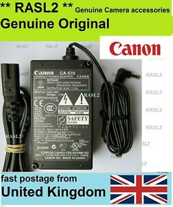 Genuine-Canon-AC-Compact-Power-Adaptor-Charger-CA-570-Legria-Vixia-HF-G-Series