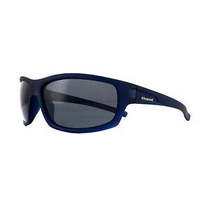 Polaroid Sport Sunglasses P8411 148 Y2 Rubber Blue Grey Polarized ... ca918eb57a