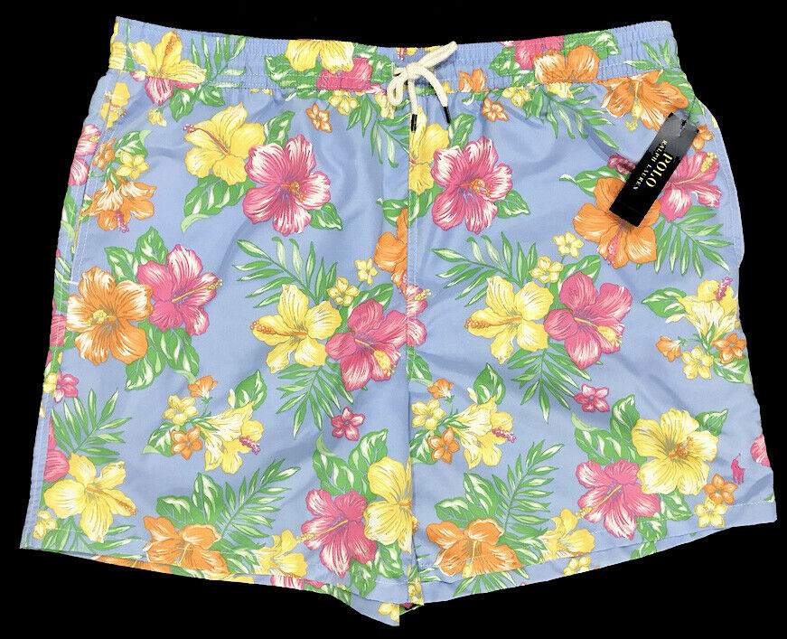 Men's POLO RALPH LAUREN Tropical Floral Swimsuit Swim Trunks 2XB 2X 2XL NWT NEW
