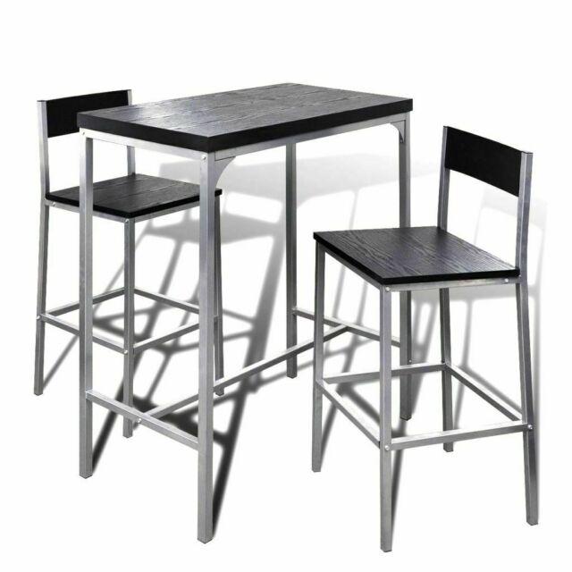 vidaXL Set Tavolo da Pranzo e Sedie Cucina Sala Colazione 7 Pezzi Nero