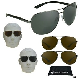 34bb2fa7fc Image is loading Pilot-Aviator-Polarized-Bifocal-Sunglasses-Readers-Men -Women-