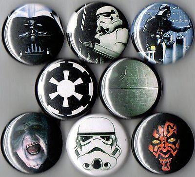 Star Wars 8 pins buttons badges dark side darth vader