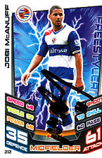 Reading F.C Jobi McAnuff Hand Signed 12/13 Premier League Match Attax.