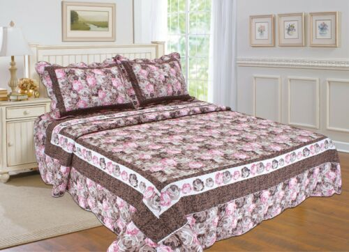 bedspread and coverlet with Floral Prints 86 All For You 3PC quilt set