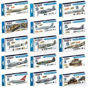 Hataka-Blue-Brush-Optimised-Paint-Set-Acrylic-Model-Vehicles-WW2-Modern-Colours