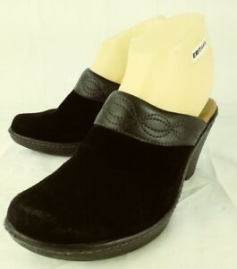 c20ef23fd0 Sofft Wos Shoes 1508821 US 7.5 M Black Suede Leather Slip-on Heels ...