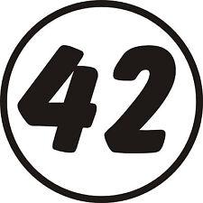 3x Custom Race Rally Numbers Door Window stickers motorsport JDM trackday car