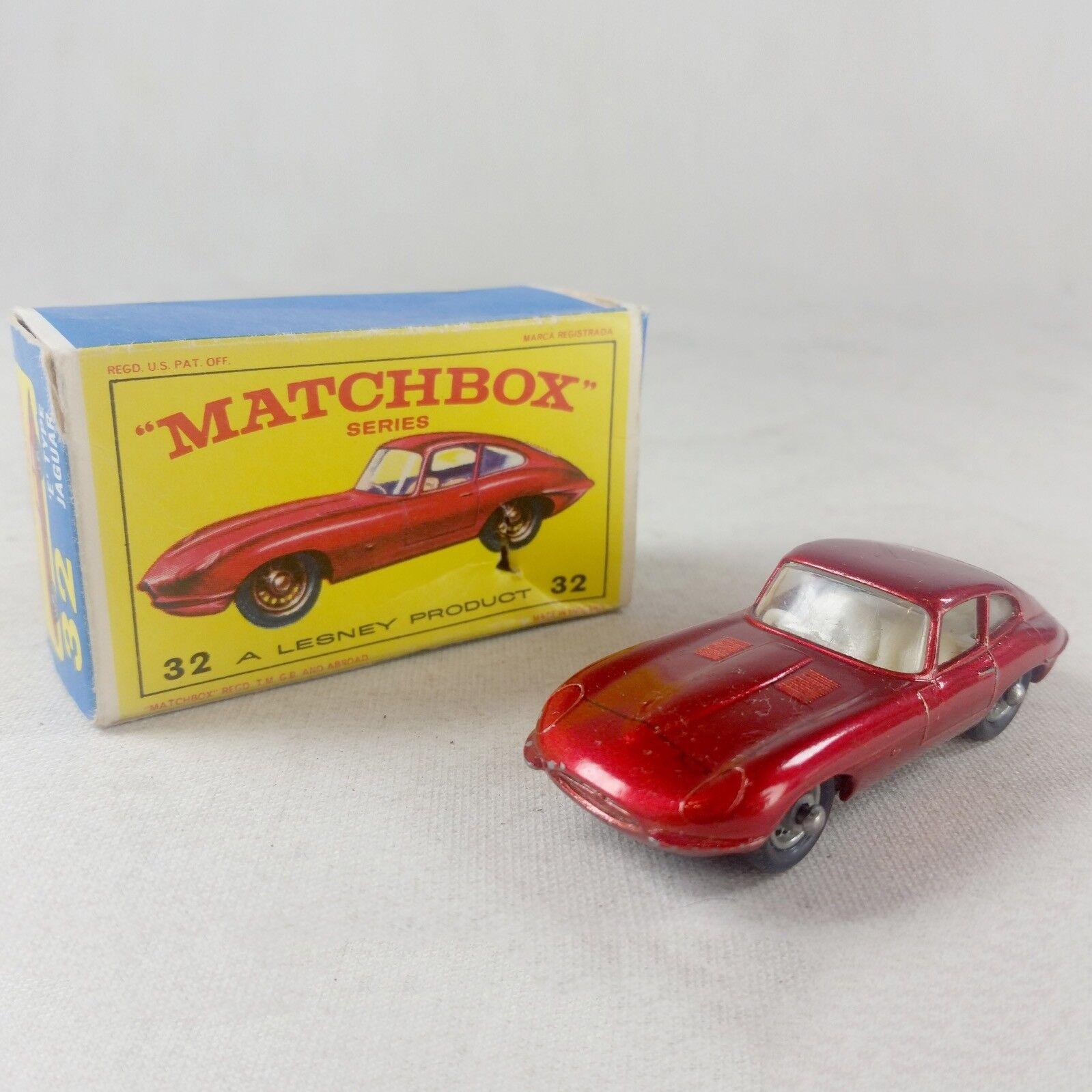 MATCHBOX SERIES a LESNEY PRODUCT Nº 32b-Jaguar E-TYPE COUPE-très bon état