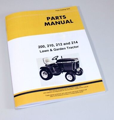 Business & Industrial PARTS MANUAL FOR JOHN DEERE 200 210 212 214 ...
