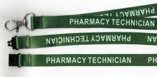 GRATUIT UK p/&p 1 Vert technicien en pharmacie Imprimé Hospital de Sécurité Sangle Lanière