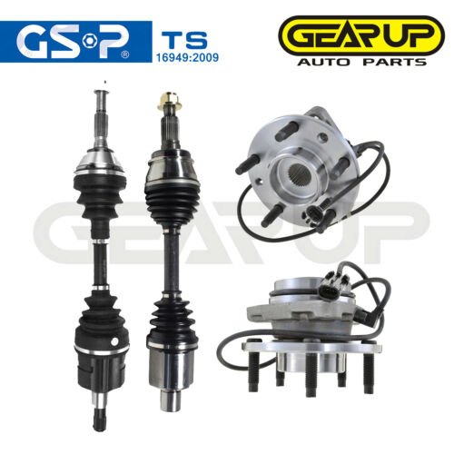 2 CV Axle Joint Front For GMC Sonoma Pickup 2.2L 4.3L 6 Cyl 5 Lugs 2 Wheel HUB