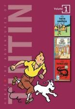 3 Original Classics In 1: The Adventures of Tintin : Tintin in America; Cigars of the Pharaoh; The Blue Lotus Vol. 1 by Hergé (1994, Hardcover)