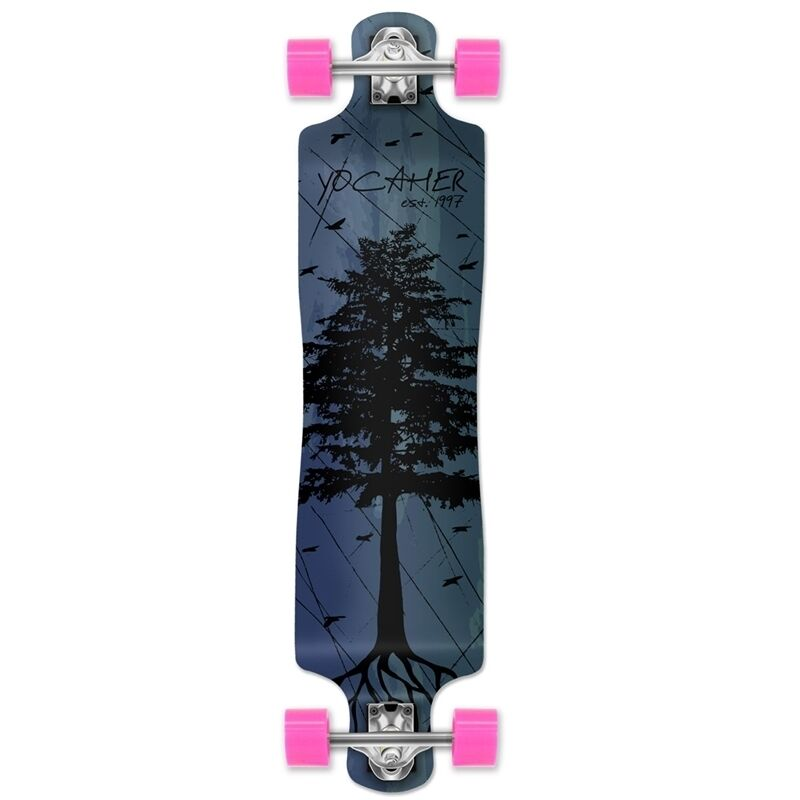 Yocaher Lowrider Longboard Complete - In the Pines   bluee