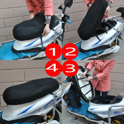 Universal Motorcycle 3D Seat Cover   Heat Insulation Sleeve Stretchable