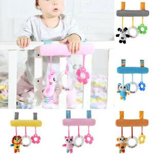 Infant-Kids-Cartoon-Stroller-Bed-Spiral-Car-Seat-Baby-Pram-Hanging-Toys-Animal
