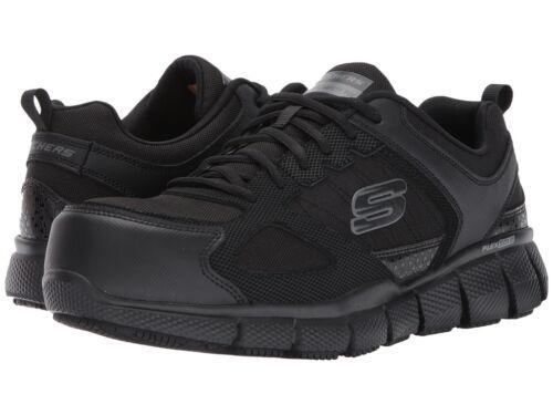 Skechers TELFIN Mens Black 77132W/BLK WIDE WIDTH COMPOSITE TOE Work Shoes