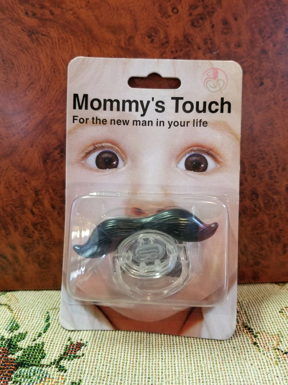 BPA Free 0-6m Silicone by Mommy/'s Touch Mustache Baby Pacifier//Binkie