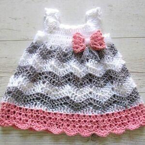 Handmade Crochet Baby Girl Dress Ebay