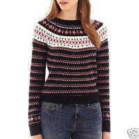 I Heart Ronson Long-sleeve Ski Fairisle Sweater Size S Msrp $55.00