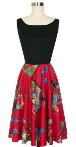 Trashy Diva Sz 6 Red Fans Holly Dress Candice Gwin