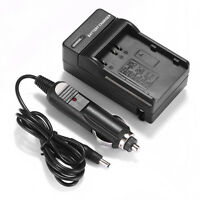 Camera Battery Charger For Nikon En-el3e Enel3e D200 D80 D90 Wall + Car Charger