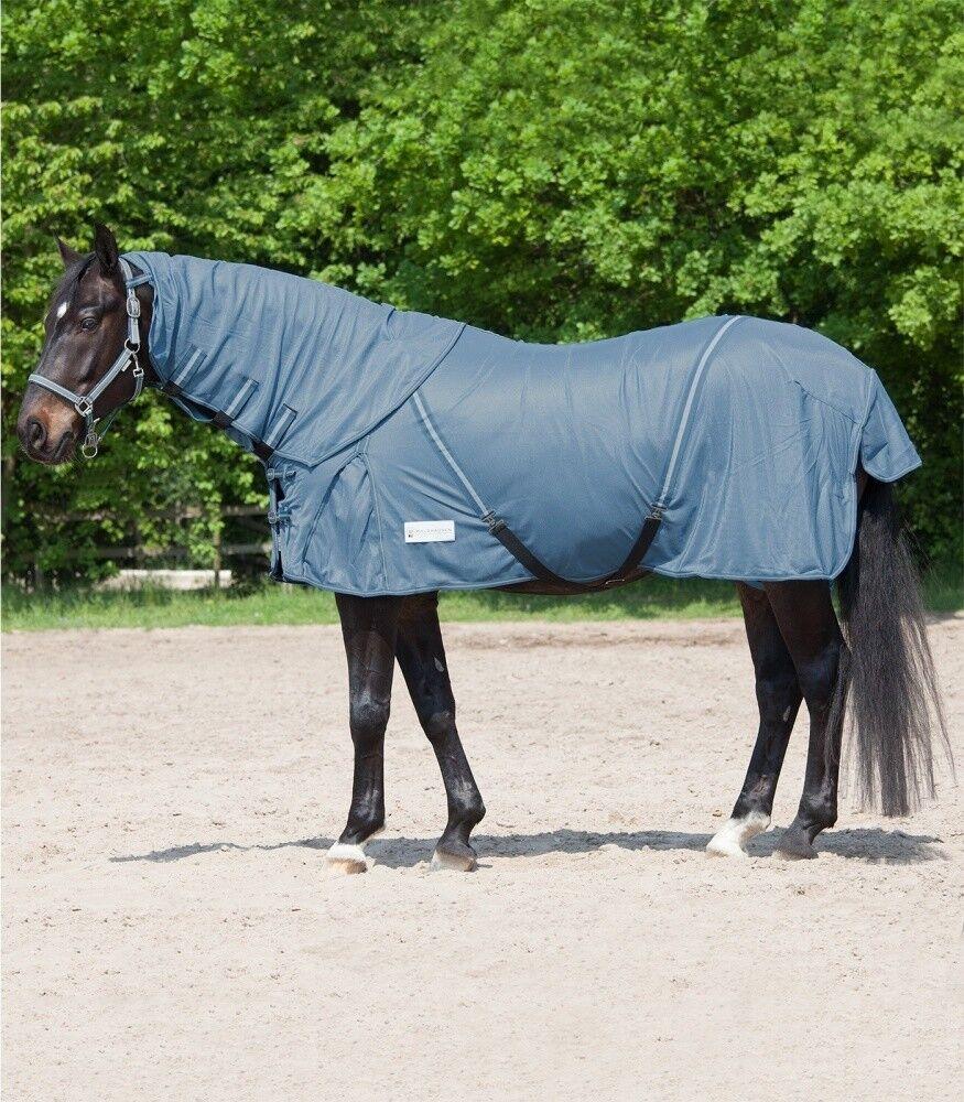 Moscas manta projoect extraíble cuello parte Waldhausen Horse fashion taubenazul