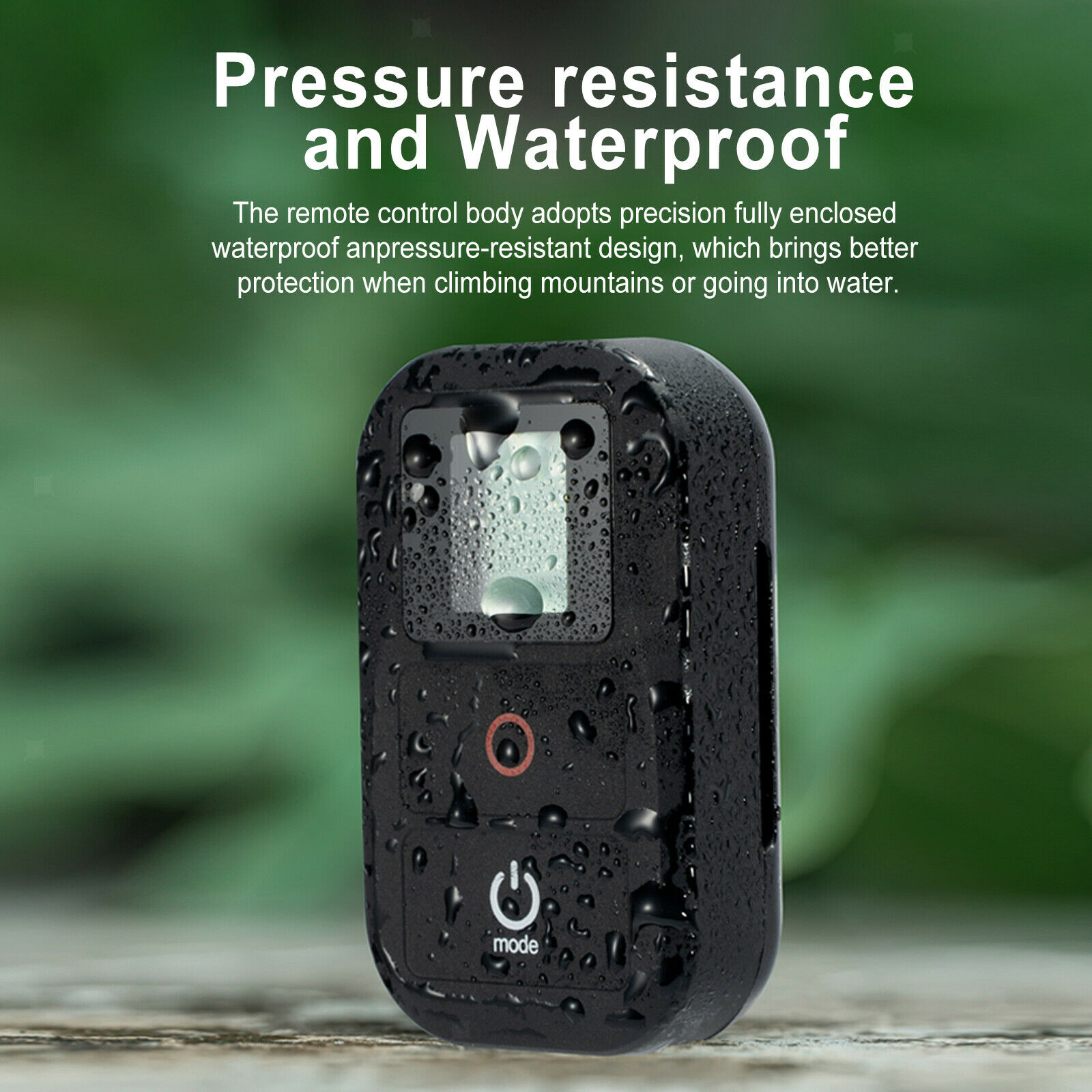 40M Smart WiFi Remote Control for Pro 8/7/6/5/4 Long Black